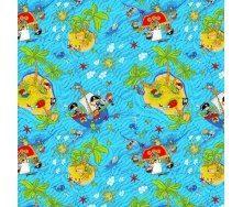 Ковролин AW Острова детский 5 мм голубой