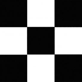 Лінолеум чорно-білий шахівниця 2 м