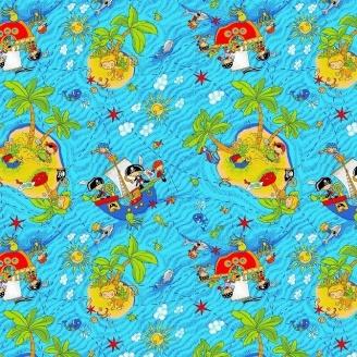 Ковролин Нева Тафт Острова детский 5 мм голубой