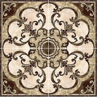 Декор-панно Inter Cerama EMPERADOR 86x86 см коричневий