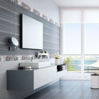 Бордюр Inter Cerama MAGIA 7x50 см сірий