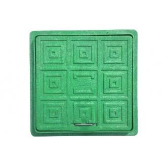 Люк квадратный смотровой 300x300 мм зеленый