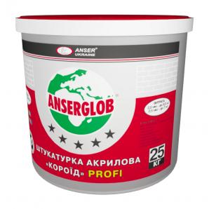 Штукатурка Anserglob PROFI короїд 2 мм 25 кг білий