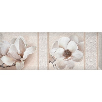 Декор Inter Cerama BINGO 15x40 см белый (Д 125 061-2)