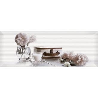 Декор Inter Cerama PERGAMO 15x40 см білий (Д 123 061-2)