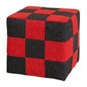 Пуфик Мебель-Сервис 380х380х380 мм жонар клетка красно-черный