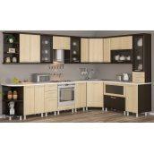 Кухня Меблі-Сервіс Тера плюс 2,6 м зі стільницею сіро-чорна