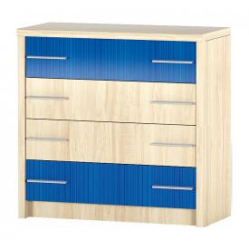 Комод Мебель-Сервис Денди 4Ш 840х860х400 мм береза/синий