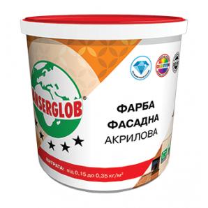 Фарба фасадна Anserglob акрилова 15 кг білий