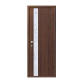 Двері міжкімнатні Новий Стиль КВАДРА Р Злата 600х2000 мм горіх