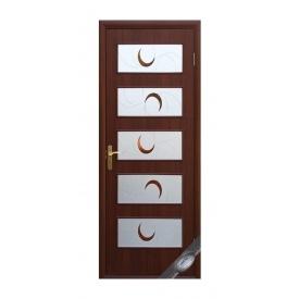 Двери межкомнатные Новый Стиль КВАДРА Р Ева 600х2000 мм каштан