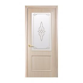 Двері міжкімнатні Новий Стиль ІНТЕРА DeLuxe Р Вілла 600х2000 мм ясен