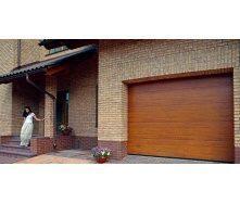 Гаражные секционные ворота Alutech Classic 6000х3085х45 мм гофр тип L Woodgrain