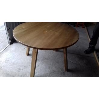 Круглий стіл з масиву сосни 1100 мм