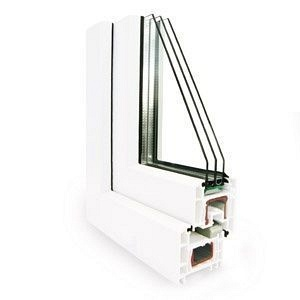 Металлопластиковое окно из профиля системы REHAU ECOSOL-Design 70 мм
