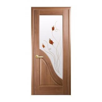 Двери межкомнатные Новый Стиль МАЭСТРА Р Амата 600х2000 мм золотая ольха