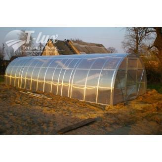 Теплиця збірна з оцинкованого профілю Радуга з полікарбонатом Greenhouse NANO 6 мм 3х6х2 м