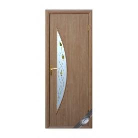 Двери межкомнатные Новый Стиль МОДЕРН Р Луна 600х2000 мм беленый дуб