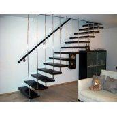 Лестница консольная Триумф Запад с металлическими перилами