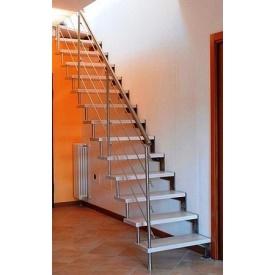 Сходи консольні Тріумф Захід з металевими поручнями і скляними сходинками
