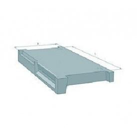 Площадка сходова залізобетонна для маршів Стройдеталь ЛМФ ЛПФ28.13-5 1290х2800 мм