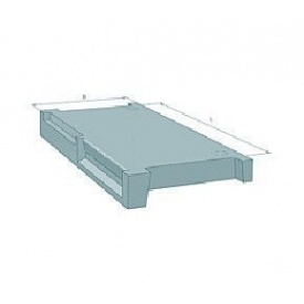 Площадка лестничная железобетонная Стройдеталь 2ЛП26.13.4кс 1400х2600 мм