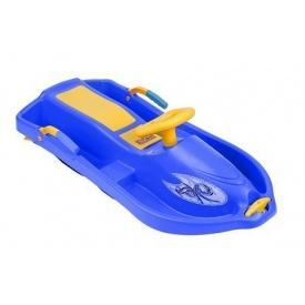 Санки с рулем Plastkon Снежная лодка 93х43х27 см синие