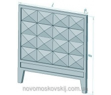 Плита забору залізобетонна Стройдеталь П5-ВК160х2200х3980 мм
