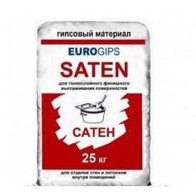 Шпаклівка фінішна EUROGIPS Сатенгіпс 25 кг