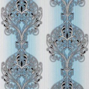 Обои виниловые Versailles на бумажной основе 0,53х10,05 м голубой (096-22)