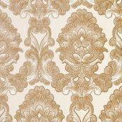 Обои виниловые Versailles на бумажной основе 0,53х10,05 м светло-коричневый (015-33)