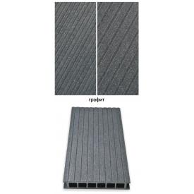 Террасная доска Гамрат 25х160х2400 мм графит