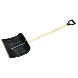 Лопата для снега пластмассовая с металлической планкой 490x500 мм