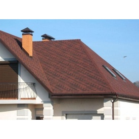 Устройство крыши из битумной черепицы