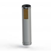 Труба для дымохода из нержавеющей стали 120 мм в утеплении