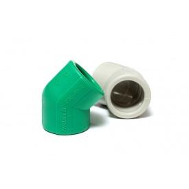 Колено 45 градусов полипропиленовое PipeLife PP-R 20 мм