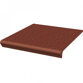 Ступень клинкерная прямая с капиносом структурная Paradyz Natural ROSA DURO 30х33х1,1 см