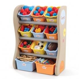 Органайзер с разноцветными ящиками FUN TIME ROOM ORGANIZER 89х67х36 см синий/оранжевый