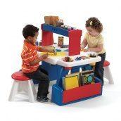 Дитячий стіл з двома стільцями для творчості CREATIVE PROJECTS 81х99х67 см 30х31х31 см двосторонній