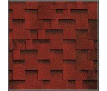Битумная черепица RoofShield Премиум Модерн 21 красный с оттенением