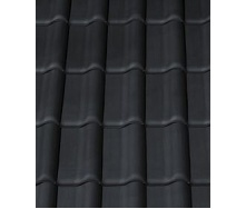 Керамическая черепица CREATON Futura 300х482 мм (black matt engobe slipped)
