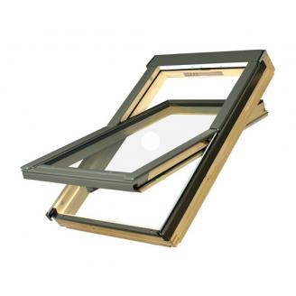 Мансардное окно FAKRO FTS U2 деревянное с воротником для металлочерепицы 78х118 см
