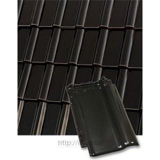 Черепица керамическая Roben Piemont 472*290 мм чорная глазурованная