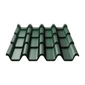Металлочерепица Ruukki Armorium Purex 0,5 мм темно-зеленый