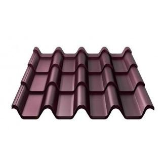 Металлочерепица Ruukki Armorium Purex 0,5 мм красное вино