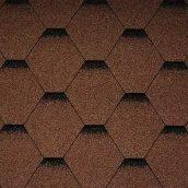 Битумная черепица Icopal Plano tema 1000*320 мм коричневая