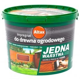 Акриловая эмаль Altax для садового дерева коричневая 5 л