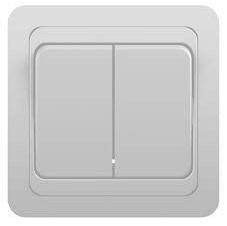 Выключатель двухклавишный С5 10-002 белый