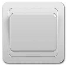Выключатель одноклавишный С1 10-001 белый