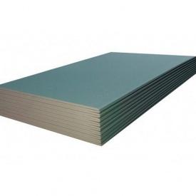 Гипсокартон влагостойкий 12,5 мм 1200x2500 мм